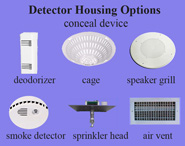 cigarette smoke detector housing options